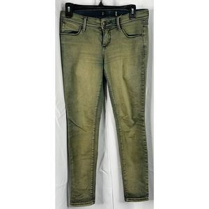 free people green wash skinny jeans 30